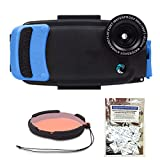 Watershot PRO Kit for iPhone 6/6s + PLUS (Snorkel Blue) (flat + wide angle lens port) w/ Filter and FREE Moisture Munchers