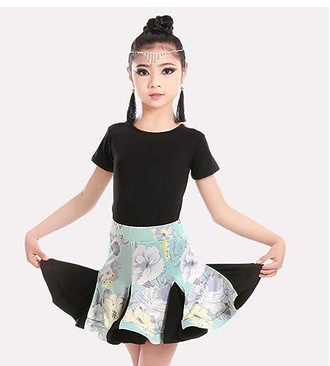 ZYLL Disfraces de Baile Latino para niños, Vestidos de Falda con ...