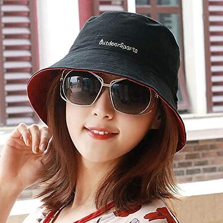 YXLMZ - Gorro de Dos Caras para Mujer, diseño Neutro, Black + Red ...