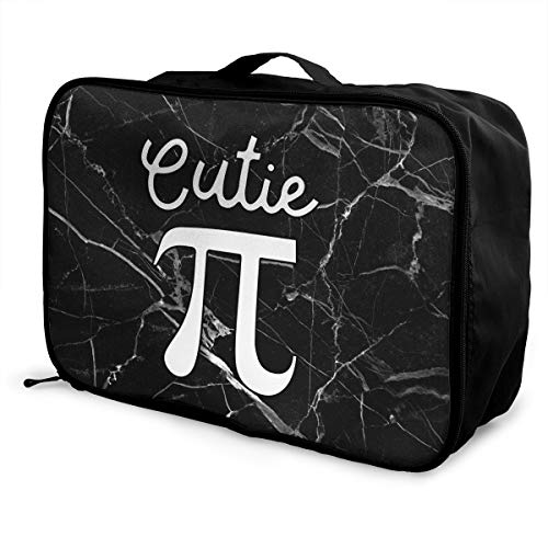 Cutie Pi Symbol Pie Travel Duffle Bag Lightweight Large Capacity Tote Bag Storage Carry Luggage Bag Handbag