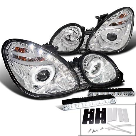 Chrome Lexus Gs300/400 Halo Smd Projector Headlight+LED DRL Fog Lamp
