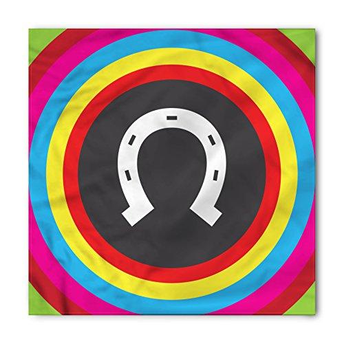Lunarable Horseshoe Bandana, Rainbow Colors Circular, Unisex Head and Neck Tie from Lunarable