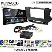 Volunteer Audio Kenwood DDX9904S Double Din Radio Install Kit with Apple CarPlay Android Auto Bluetooth Fits 2008-2013 Toyota Highlander with Amplified System (Black)