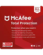 McAfee Total Protection 2021 Unlimited Devices, Antivirus Internet Security Software, VPN, Password Manager, Parental Control, Privacy, 1 Year with Auto Renewal - Amazon Exclusive Subscription photo