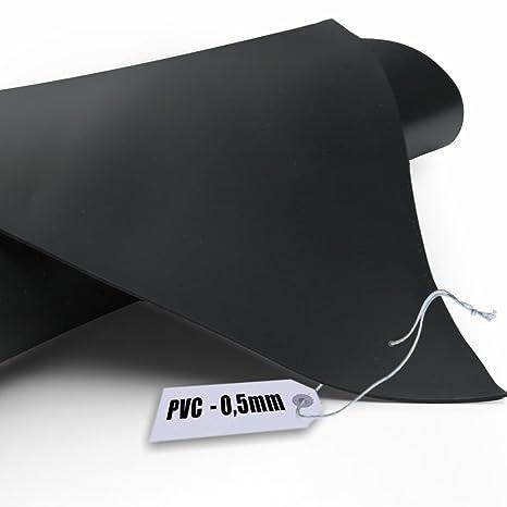 Teichfolie PVC 0,5mm schwarz in  6m x  5m