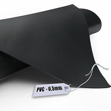 Teichfolie PVC 0,5mm schwarz in  4m x  5m