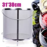 300 Micron Stainless Steel Brewing Hopper Filter Mesh Dry Hop Homebrew Beer Tea Brew Barrel Strainer - Silver (US Shipping)