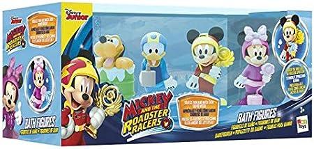 Si los presionas, sale agua,Disfruta jugando con Mickey y sus amigos,Funciona sin pilas