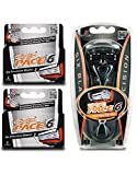 Dorco Pace 6- Six Blade Razor Blade System - Value Pack (10 Pack + 1 Handle)