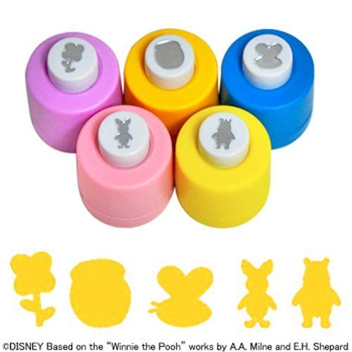 Set of 5 Different Disney Craft Paper Punches – Winnie-the-Pooh Theme (The Winnie Crafts Pooh)