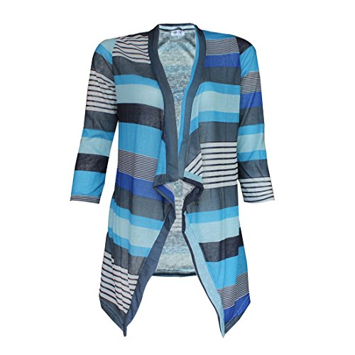 [Beautyvan, Women Irregular Stripe Shawl Kimono Cardigan Tops Cover Up Blouse (XL, Blue)] (Costumes Ideas Plus Size)