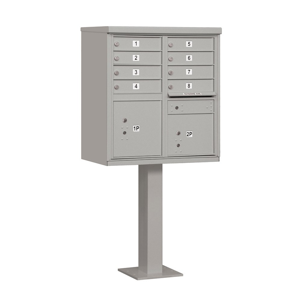 Salsbury Industries 3308GRY-U Type I Cluster Box Unit with 8 A Size Doors, Gray