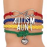 Best Aunt Bracelets - ALoveSoul Autism Awareness Bracelets Heart Charm Letter Love Review
