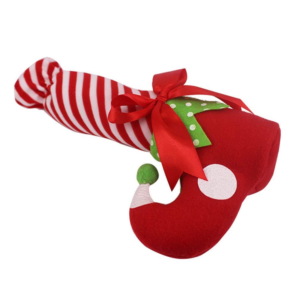 BESTOYARD 2 UNIDS Estilo Elfo de Navidad Largo Calcetines de Caramelo Regalos Bolsa Adornos de Navidad Dulces Regalos Bolsa Decoraciones del Partido: ...