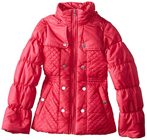 Jessica Simpson Big Girls Quilted Puffer Coat With Faux