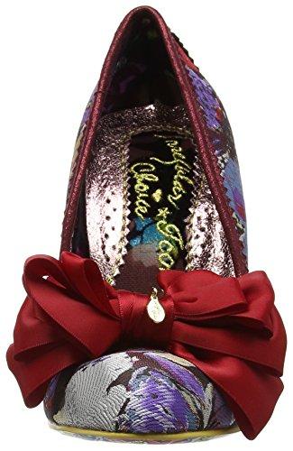 para con Mujer Zapatos Ascot Punta Irregular Rojo Choice de Red Cerrada Multi tacón zq84FXW