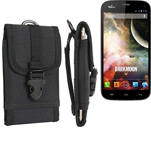 bolsa del cinturón / funda para Wiko Darkmoon, negro | caja del teléfono cubierta protectora bolso - K-S-Trade (TM)