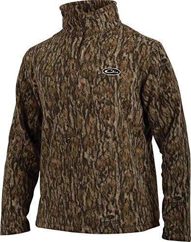 Drake MST Camo Camp Fleece, Color: Mossy Oak Bottomland, Size: Medium (DW1081-006-2)