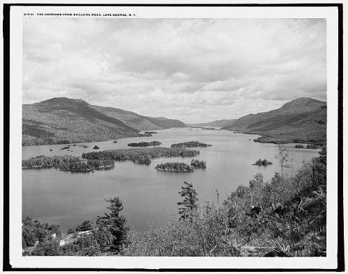 Photo: Narrows,Shelving Rock,Adirondack Mountains,islands,Lake George,New - George York State New Lake
