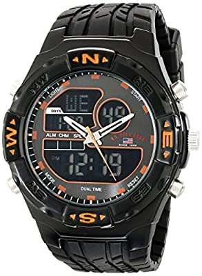 U.S. Polo Assn. Sport Men's US9059 Analog-Digital Watch with Black Rubber Band