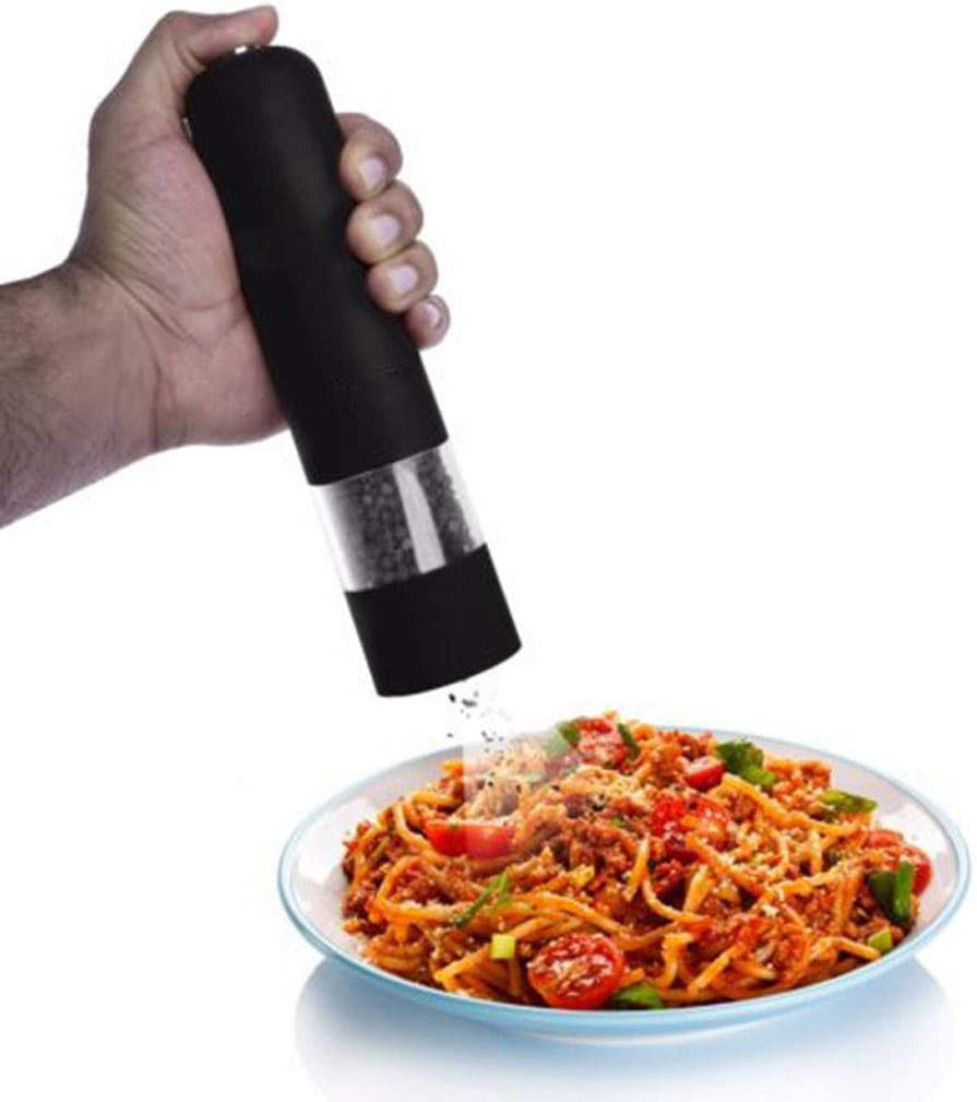 PRENKIN Electric Pepper Grinder Automatic Spice Peppercorn Sea Salt Ceramic Mechanism Grind Mills