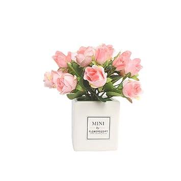 Amazon.com: MoO1deer - 1 pieza de flores artificiales en ...