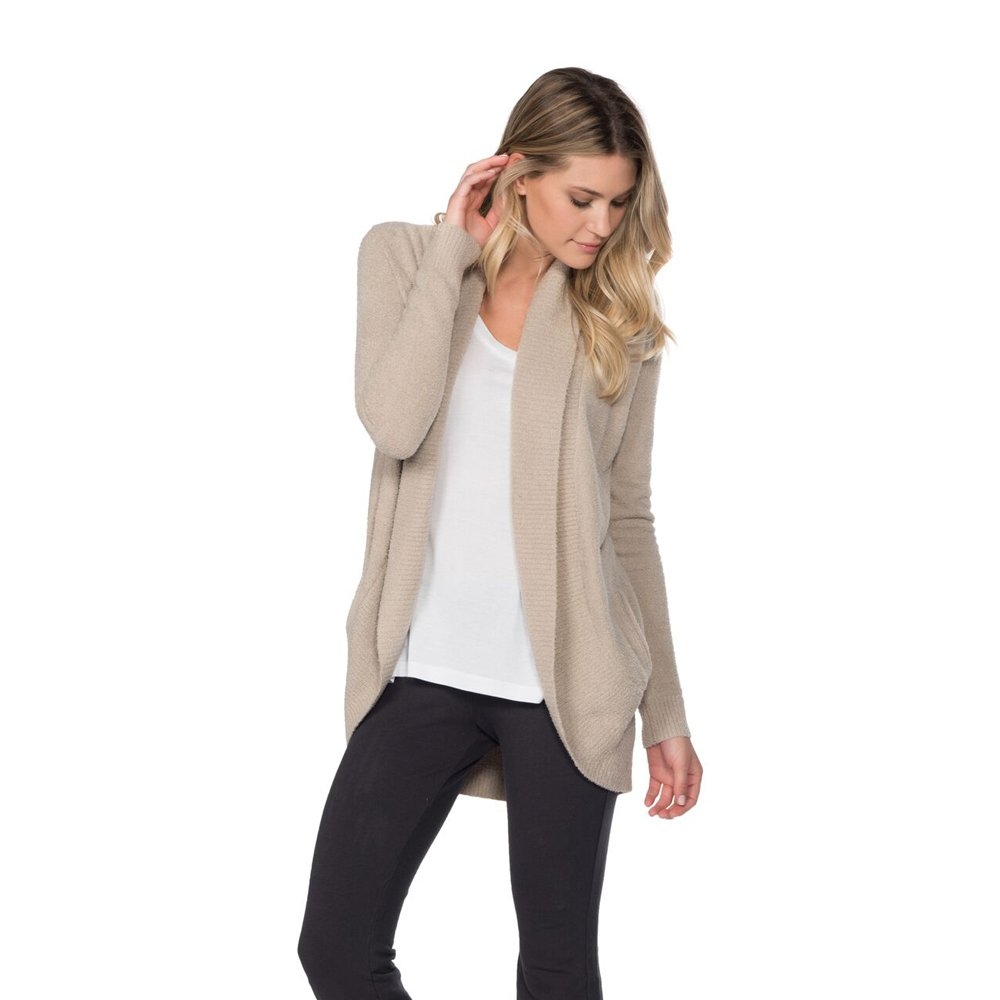 Barefoot Dreams Bamboo Chic Lite Circle Cardi - Sand - Small