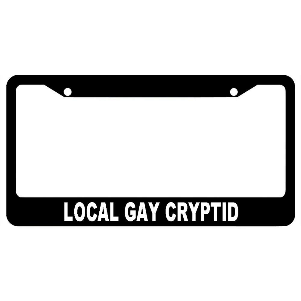 Auto Car Truck Tag Frame for US Standard URCustomPro Black License Plate Frame Gay Pride Stainless Steel License Plate Cover Holder