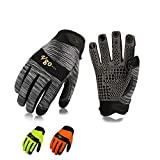 Vgo 3 Pairs High Dexterity Synthetic Leather with Silicone for Antislip,Multipurpose Work Gloves(Size L,SL7895)