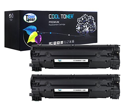 Cool Toner 2 Pack 2,100 Pages Compatible Toner Cartridge Replacement for Canon 128 Cartridge 128 126 3500B001AA Used For Canon LBP6200 6230d, imageClass MF4550 MF4570 D520 D530 D550