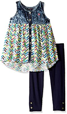 Limited Too Little Girls' 2 Piece Fashion Tank Top and Capri Legging Set