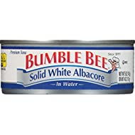 BUMBLE BEE Solid White Albacore Tuna in Water, Canned Tuna Fish, High Protein Food, 5oz Can (Pack of 24)