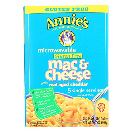 Annie's Homegrown Gluten Free Microwavable Mac and Cheese with Real Aged Cheddar - Case of 6 - 10.7 oz. by Annie's Homegrown