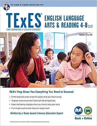 texes ela and reading 4-8 (117) book + online (texes teacher ...