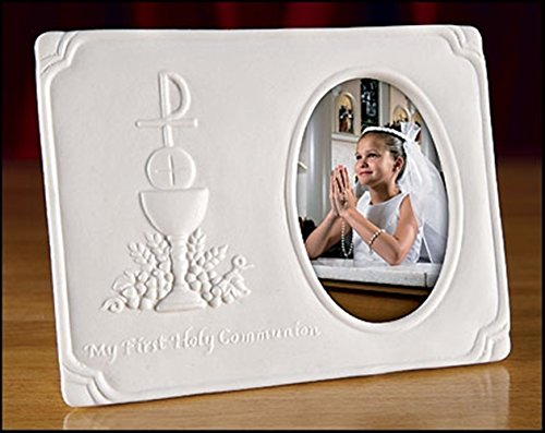 My First Communion Chalice Porcelain Photo Frame, 5 Inch -