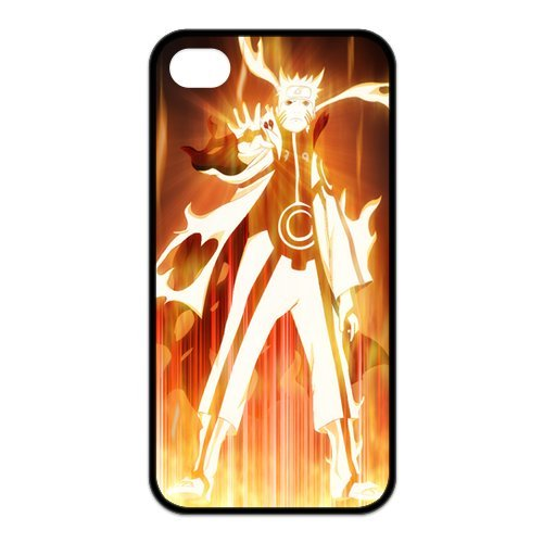 Japanese Anime Naruto Series Naruto Uzumaki for Iphone4/4s Leather Rubber Cover Case-Creative New Life