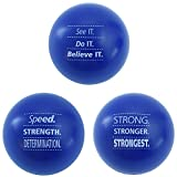 Motivational Stress Balls, 3 Pack, Teacher Peach Stress Relief Toys - Blue (10 Colors Available)