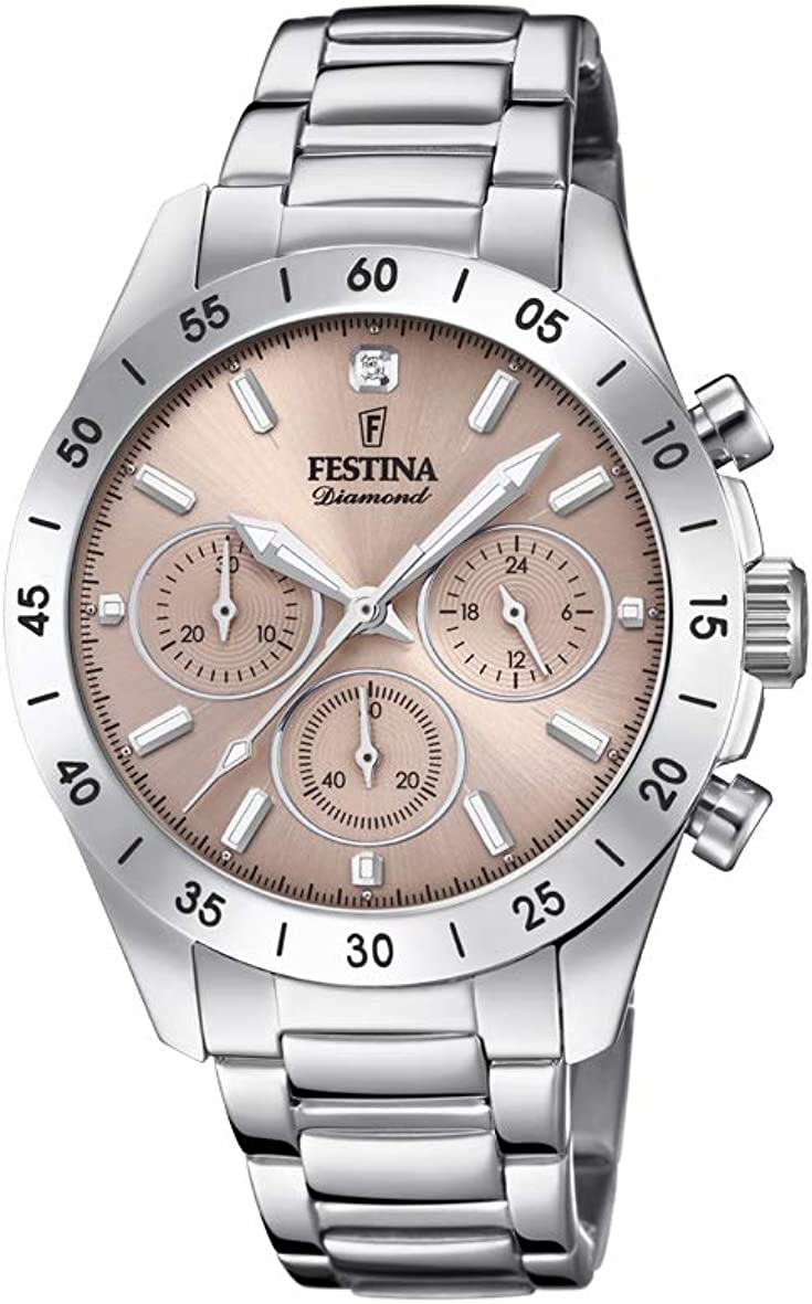 Festina 32002185 - Reloj de pulsera analógico para mujer (mecanismo de cuarzo, acero inoxidable)