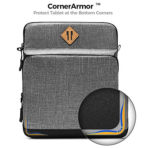 tomtoc Tablet Shoulder Bag for 12.9 Inch New iPad Pro (3rd/4th Gen) 2018-2020 with Magic Keyboard and Smart Keyboard Folio or Logitech Slim Folio Pro Case, Front Pocket for Tablet Accessories