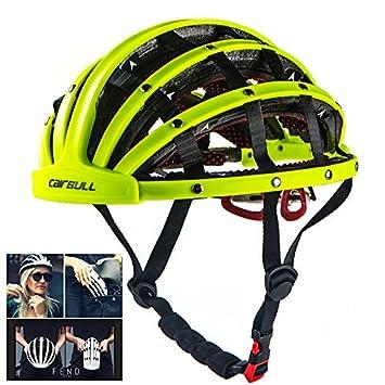 Cairbull Casco de Bicicleta Plegable,Patinaje Sobre Ruedas Scooter Rock Climbing City Sports Unisex Adulto, Ajustable 56-62 cm
