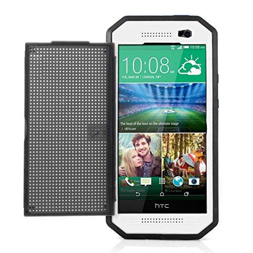 Alienwork Schutzhülle für HTC One M8 Wasserdicht Hülle Case Bumper Stoßfest Staubdicht Schneedicht Plastik weiss HM804-02