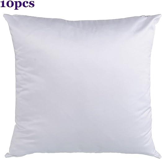 10pcs//pack Plain White Sublimation Blank Pillow Case Fashion USA Stock