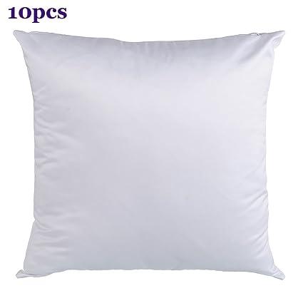 H E Plain White Sublimation Blank Pillow Case Fashion Cushion Pillowcase Cover For Heat Press Printing Throw