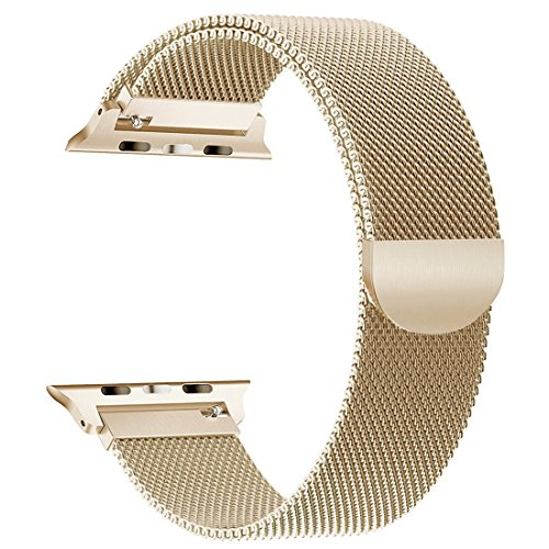 GEEP Compatible for Apple Watch Band 38mm 40mm Women Series 4 3 2 1 iwatch Band Milanese Loop Gold by GEEP