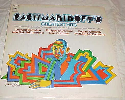 Rachmaninoff's Greatest Hits Piano Concerto No. 2, Vocalise, Eighteenth Variation, Preludes in G Minor, G-Sharp and C-Sharp Minor Record Vinyl Album LP