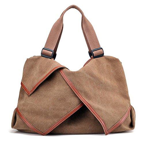 Con Shopping A Da Card Tote Borsa color Tela Tracolla Sakuldes Viaggio Borse  Purple Brown Bag ... 104b8dffe02