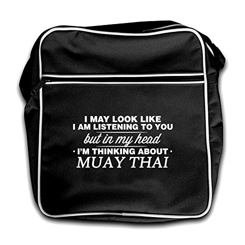 Muay Thai Red Bag My Black In Head Retro Flight I'm ItxHq