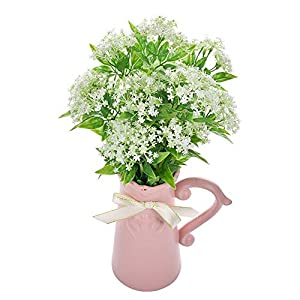 Miley S Artificial Flowers White Hydrangea Bouquet for Home Wedding Party Decoration Fake Floral Silk Flower. 44