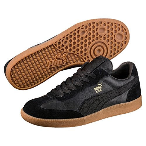 Adulte Liga Leather Basses Sneakers Puma Noir Mixte CvgpqwpxX