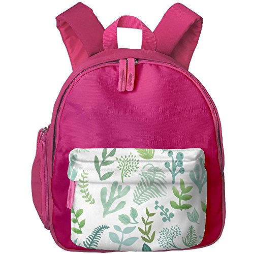 Children Leaf Pre School Backpack School Bag Pink by Fashion Theme Tshirt